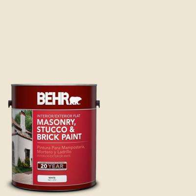 1 gal. #N290-1 Original White Flat Interior/Exterior Masonry, Stucco and Brick Paint
