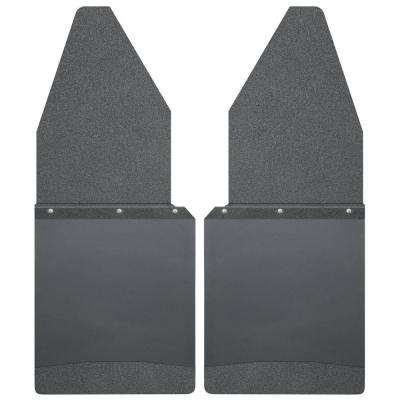 Kick Back 12 in. W Front Mud Flaps with Black Top and Weight
