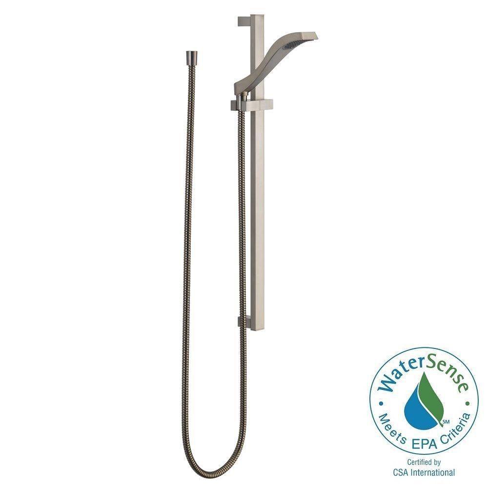dryden 1spray slide bar hand shower in stainless - Delta Dryden