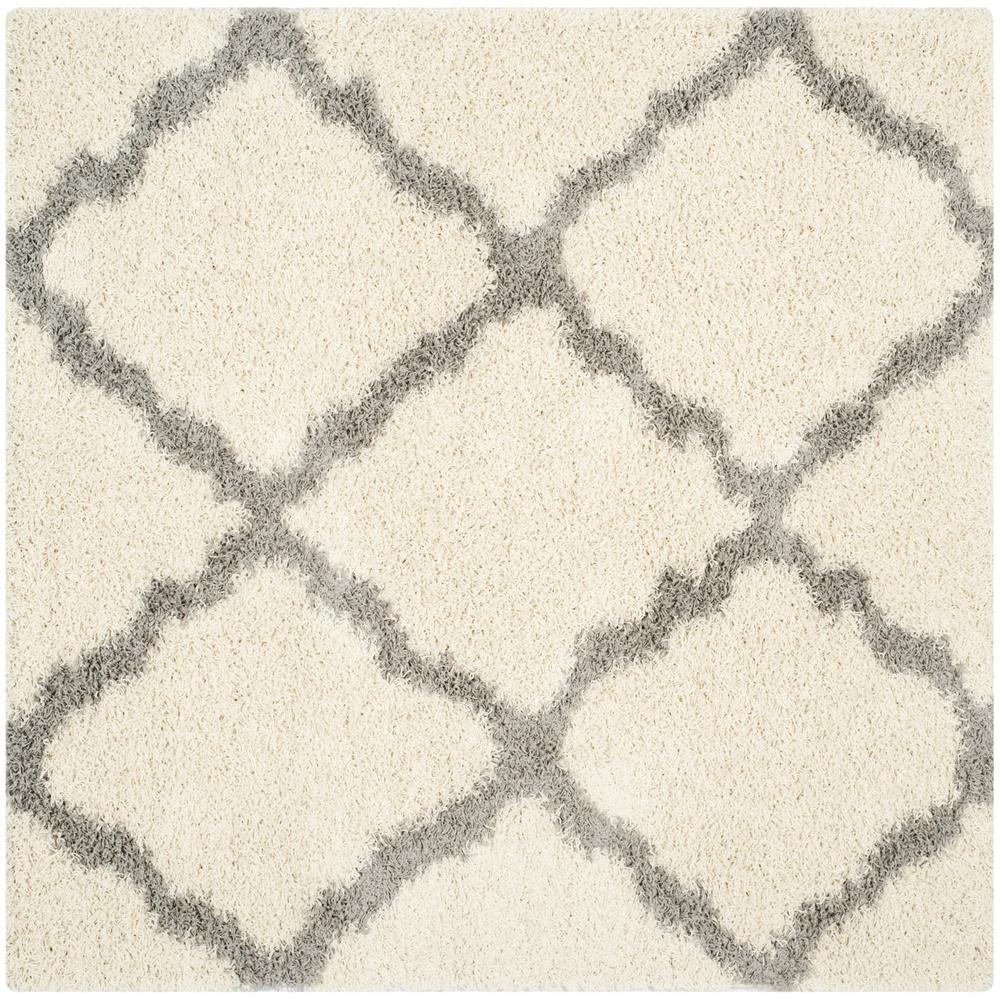 Safavieh Dallas Shag Ivory/Gray 6 ft. x 6 ft. Square Area Rug