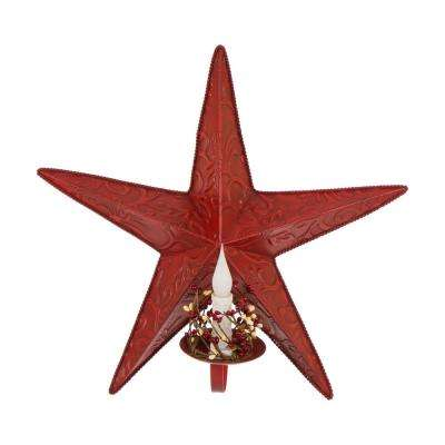 Iron Star Wall Decor w/Led Candle
