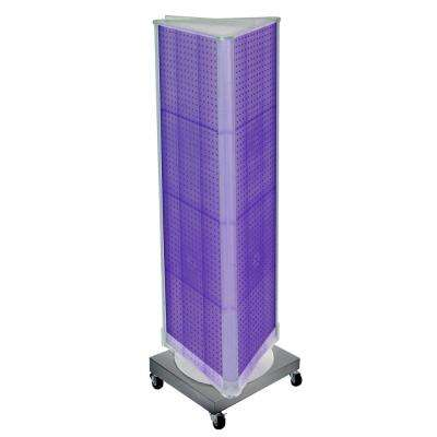 67 in. H x 16 in. W Pegboard Purple Styrene