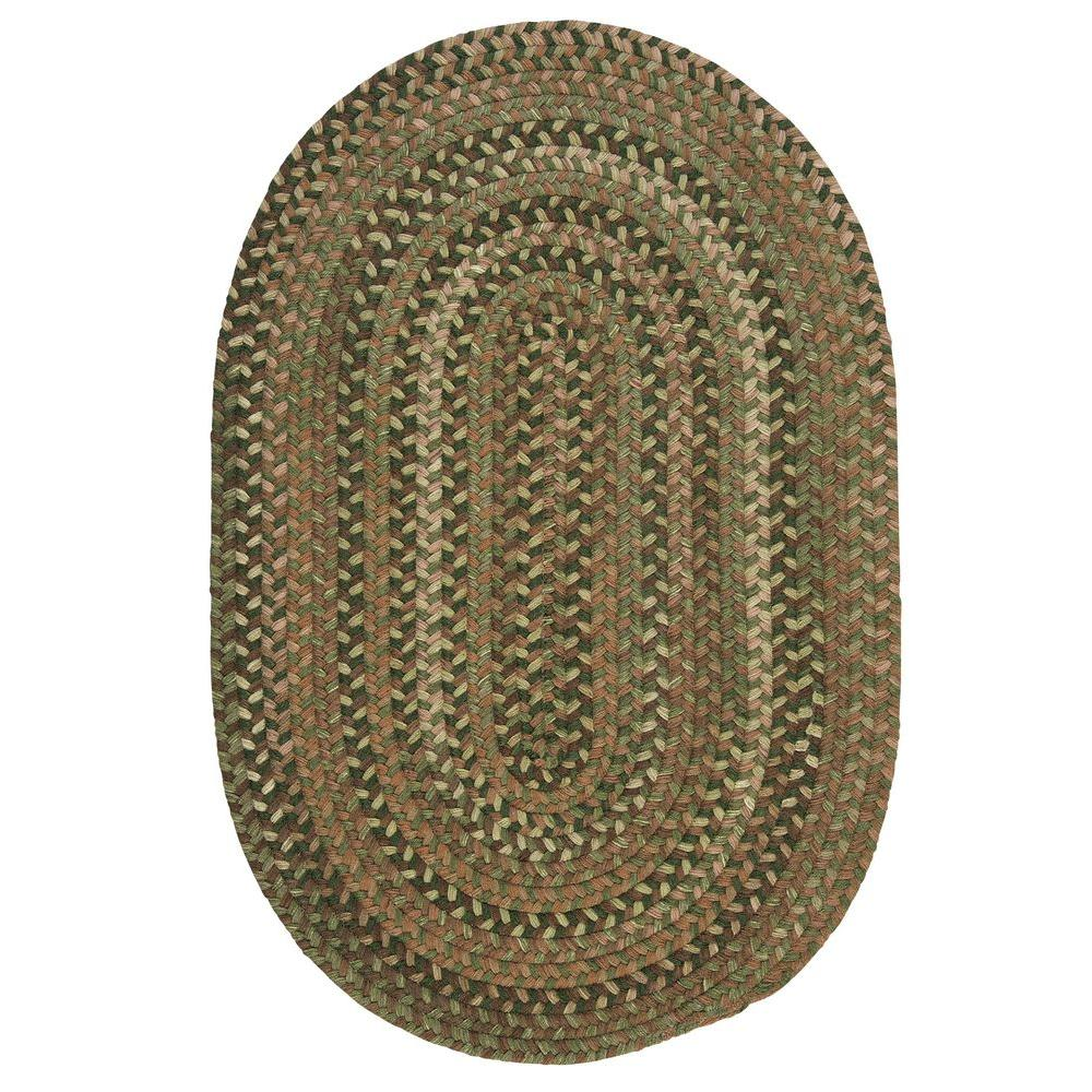 Home Decorators Collection Newport Harbor Green 5 Ft X 7 Braided Oval Area Rug