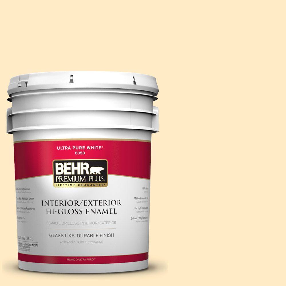 5-gal. #330A-2 Frosted Lemon Hi-Gloss Enamel Interior/Exterior Paint