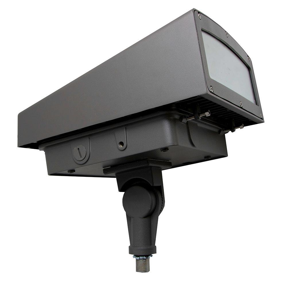 60-Watt Bronze Integrated LED Outdoor Adjustable Flood Light