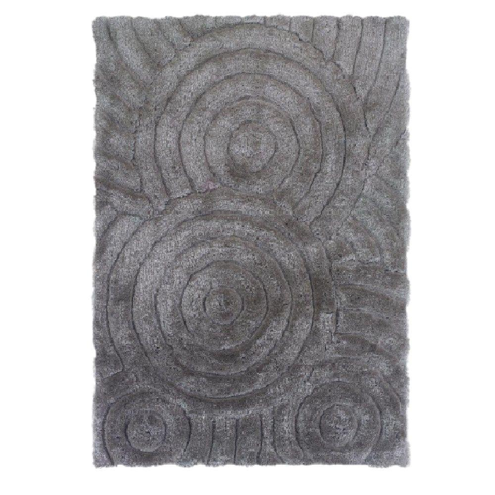 Linon Home Decor Links Collection Grey 1 ft. 10 in. x 2 ft. 10 in. Indoor Area Rug