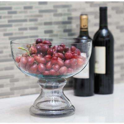 Clear Glass Pedestal Candle Holder