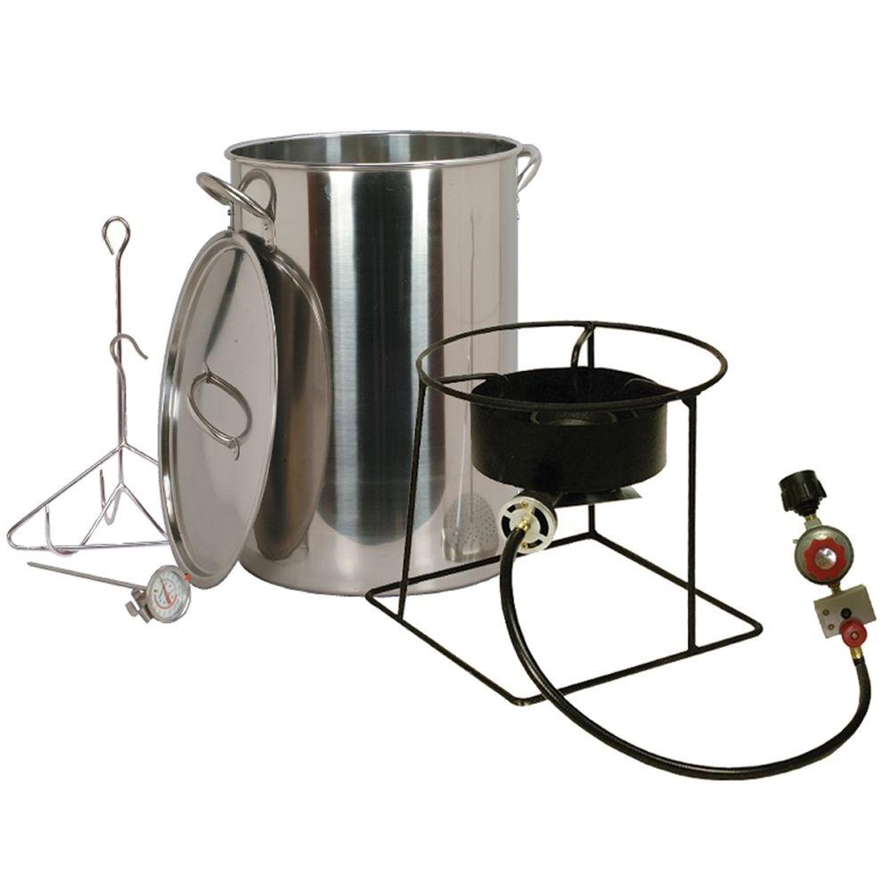 King Kooker 38,000 BTU Portable Propane Gas Outdoor Turkey Fryer with 30 qt. Stainless Steel Pot