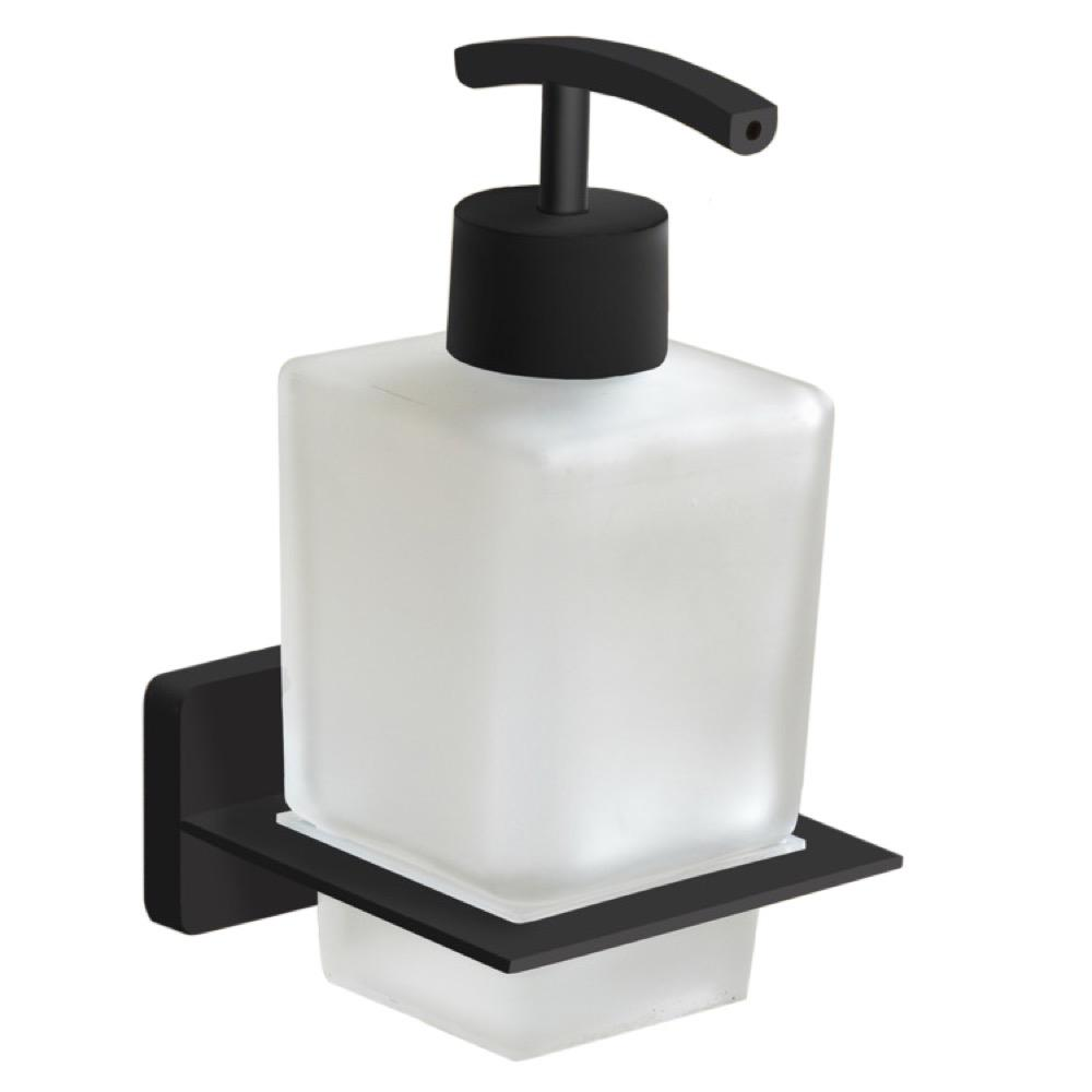 Nameeks General Hotel Wall Mounted Soap Dispenser In Black Finish Nameeks Ncb62 The Home Depot