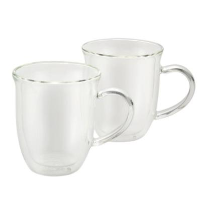 Coffee 2-Piece Insulated Glass Cappuccino Cup Set