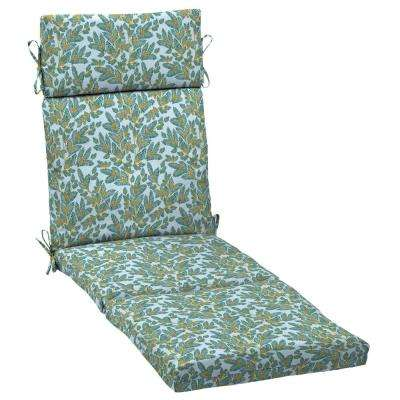 Artisans 72 in. x 21 in. Eugene Leaf Outdoor Chaise Lounge Cushion