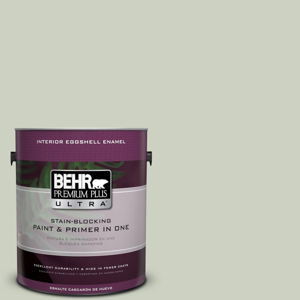 BEHR Premium Plus Ultra 1-Gal. #PPU10-11 Sliced Cucumber Eggshell Enamel Interior Paint