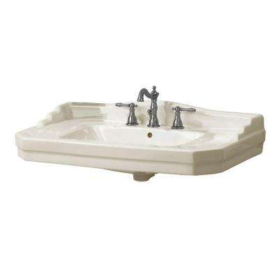 Series 1900 Wall-Mounted Bathroom Sink in Biscuit