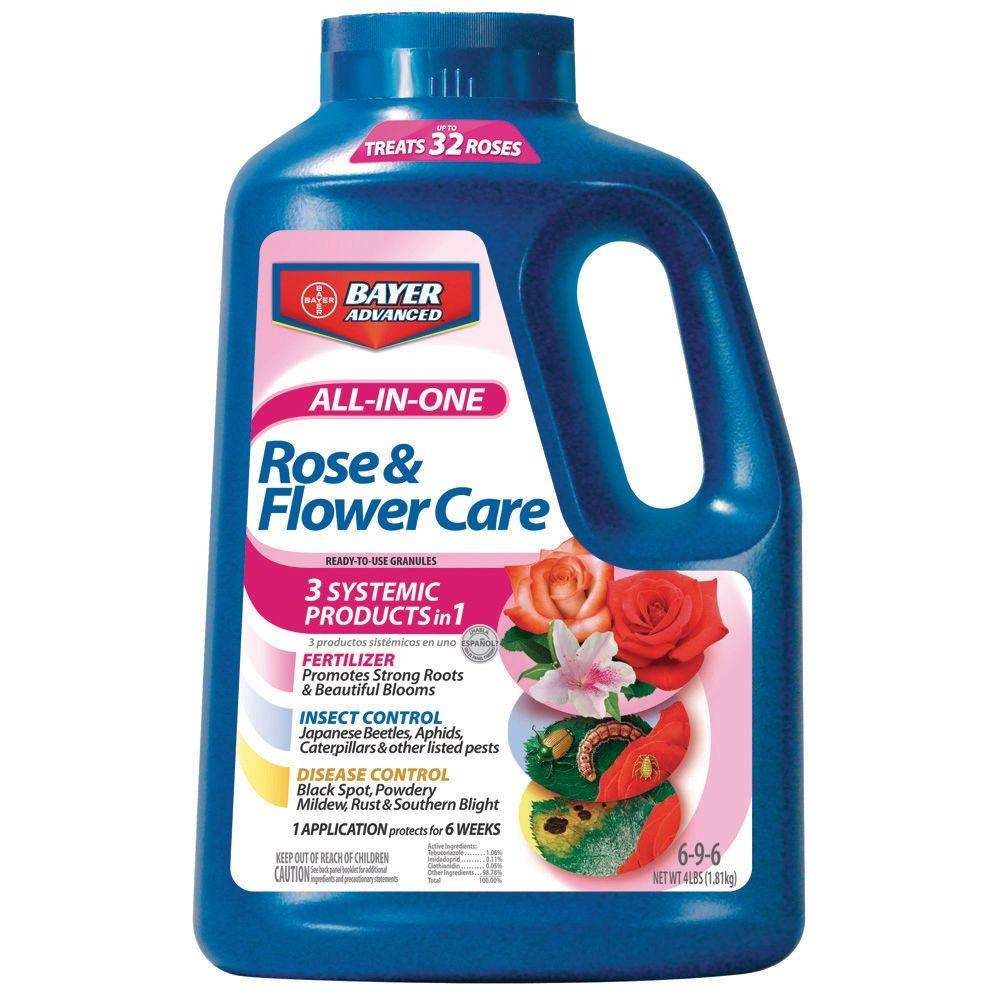 Bayer Advanced 4 lbs. All-in-1 Rose and Flower Care Granules