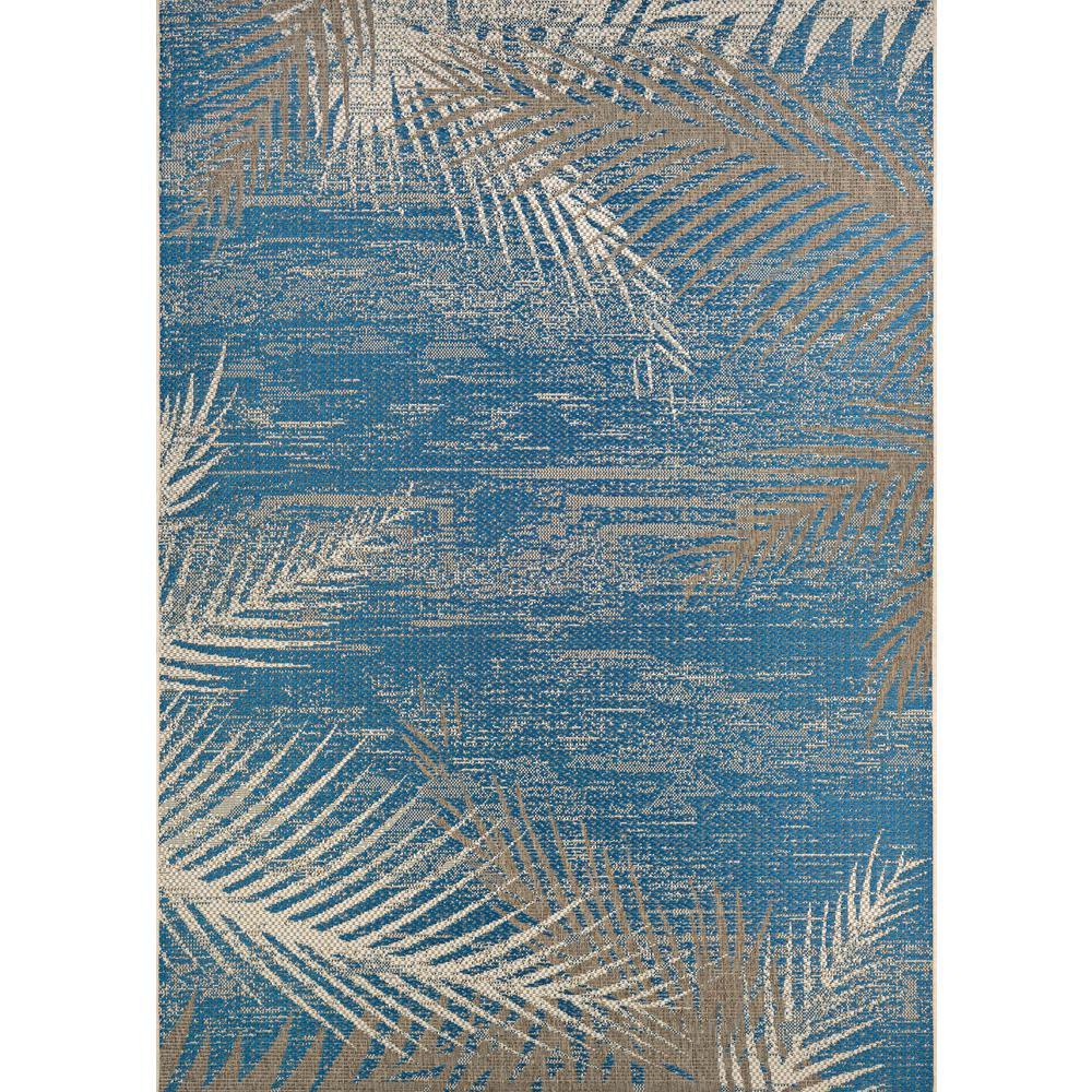 Couristan Monaco Tropical Palms Ocean 5 Ft. X 8 Ft. Indoor