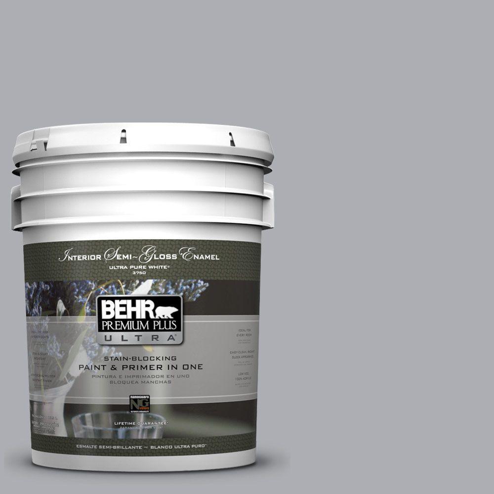 5-gal. #760E-3 Gray Timber Wolf Semi-Gloss Enamel Interior Paint