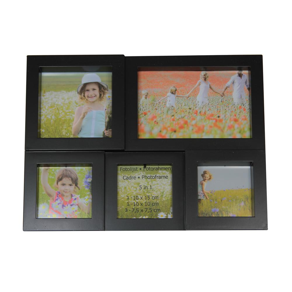 Black Multi Sized Puzzled Photo Picture Frame Collage Wall Decoration