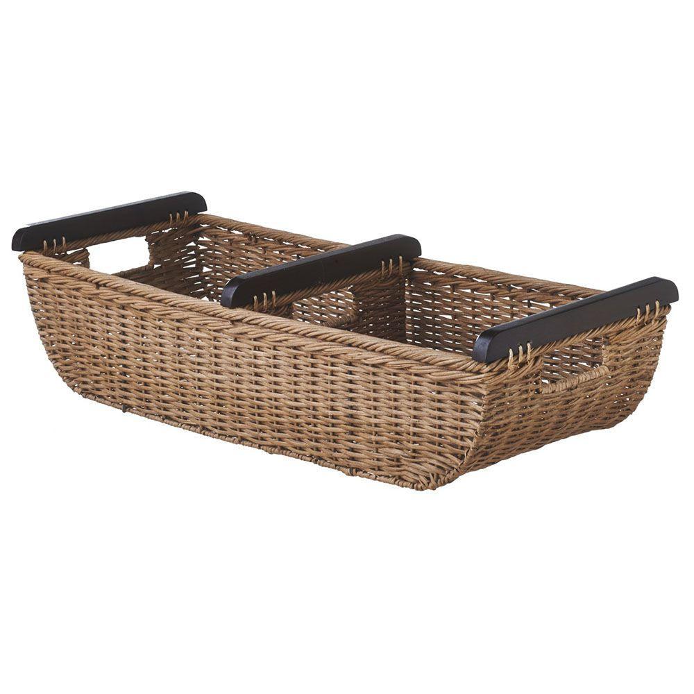 Filament Design Sundry 30.5 in. x 11 in. Rattan Decorative Basket