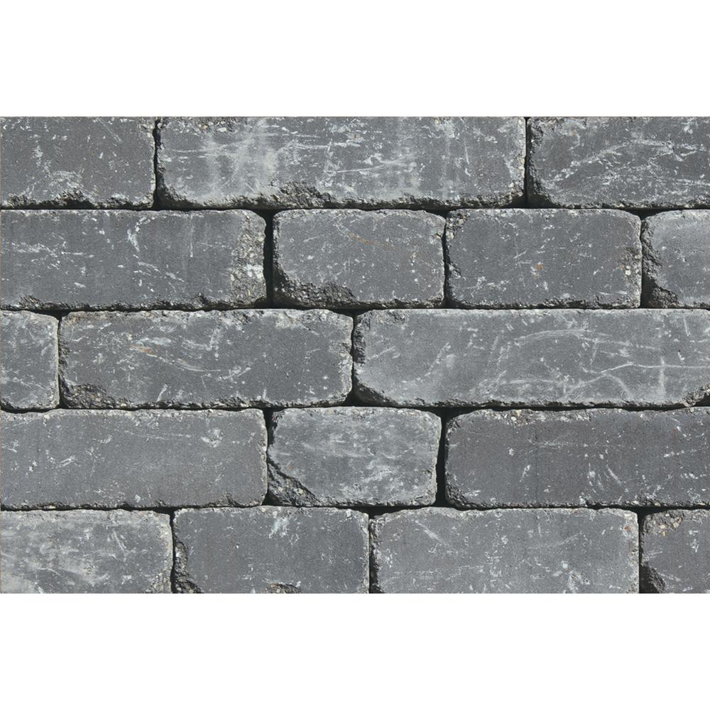 Lakeland I 8 in. L x 12 in. W x 4 in. H - Retaining Wall Blocks - Wall Blocks - The Home Depot