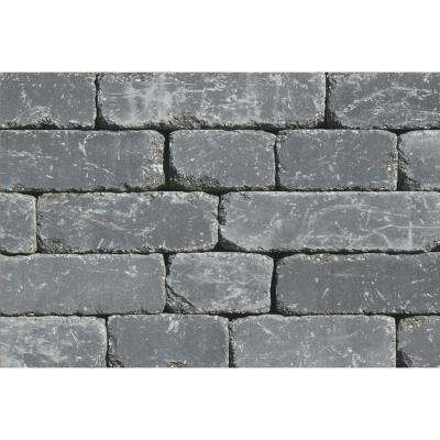 Lakeland I 8 in. L x 12 in. W x 4 in. H Bluestone Tumbled Concrete Garden Wall Block (20-Pack)