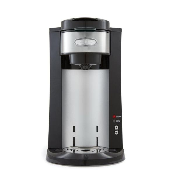 Bella Dual Brew Black Stainless Steel Single Serve Coffee Maker BLA14392