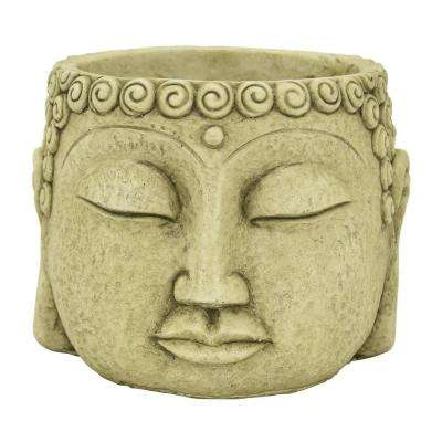 5.5 in. Green Buddha Face Flower Pot