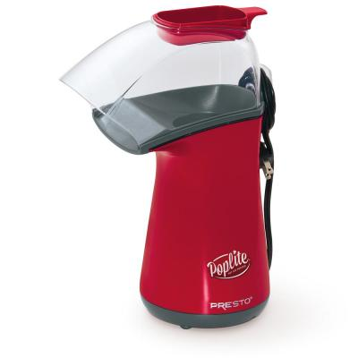 PopLite Hot Air 4 oz. Red and Black Countertop Popcorn Machine