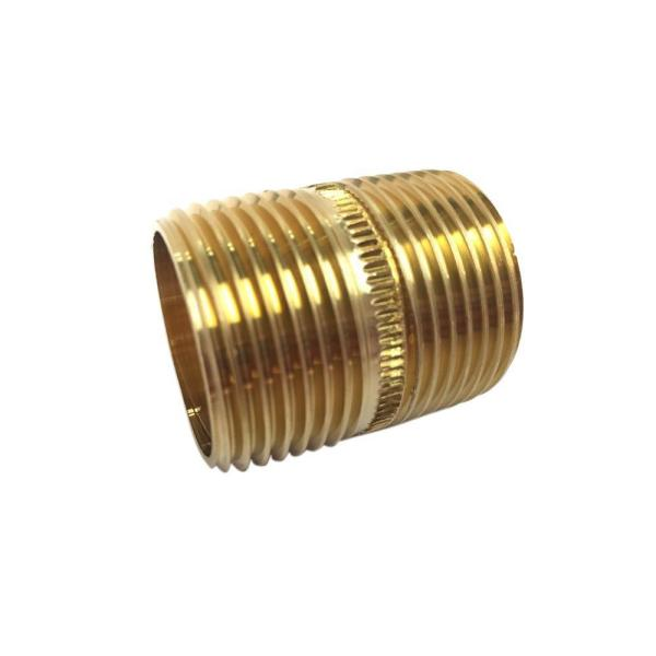 1/4 in. x Close MIP Brass Nipple Fitting