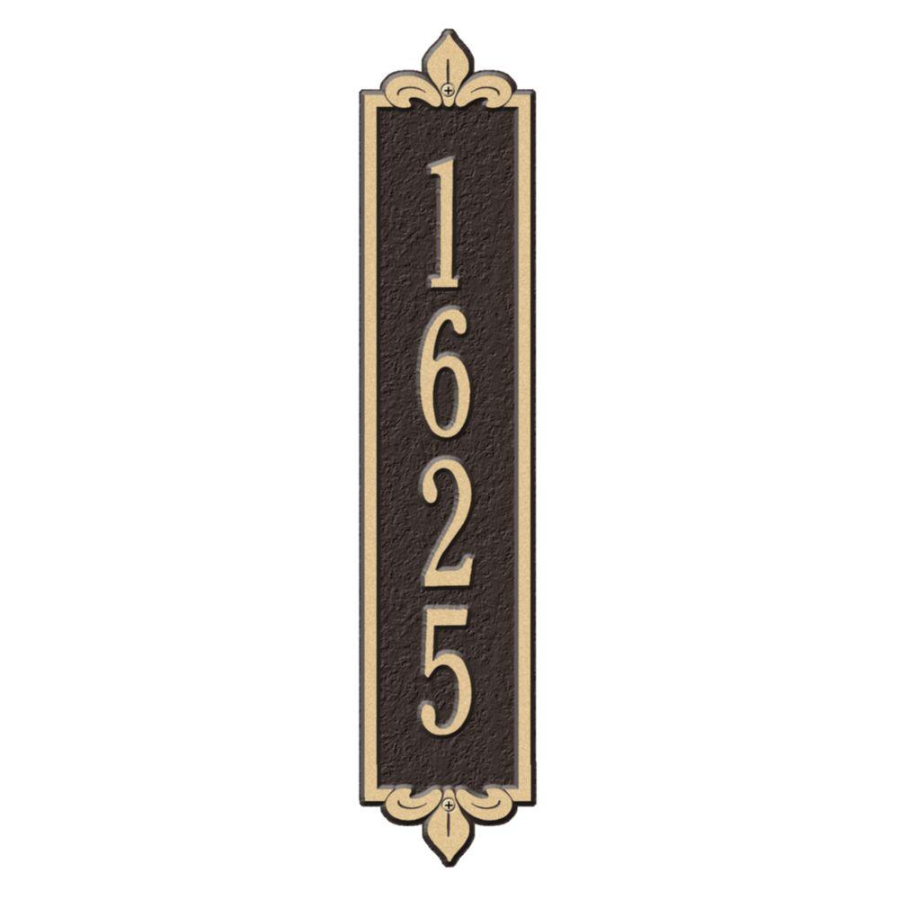 b9deb348d6911 Whitehall Products Rectangular Lyon Standard Wall 1-Line Vertical Address  Plaque - Bronze/Gold