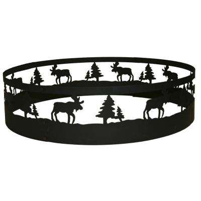 36 in. Moose Campfire Ring