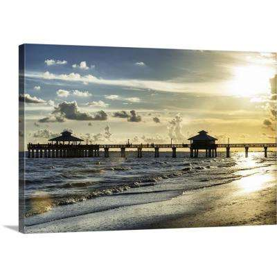 """""""Fishing Pier Fort Myers Beach"""" by Philippe Hugonnard Canvas Wall Art"""