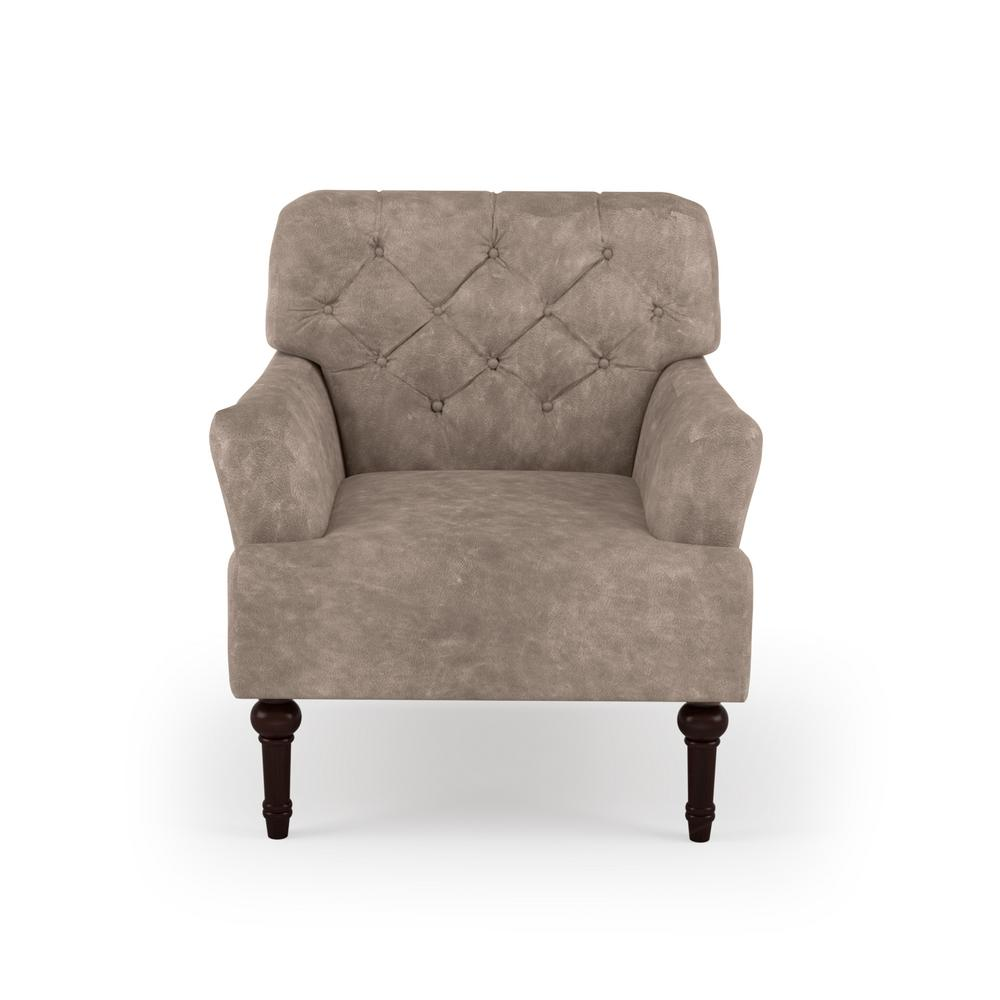 America Accent Chairs.Furniture Of America Brown Danelle Faux Leather Upholstery Button Tufted Accent Chair