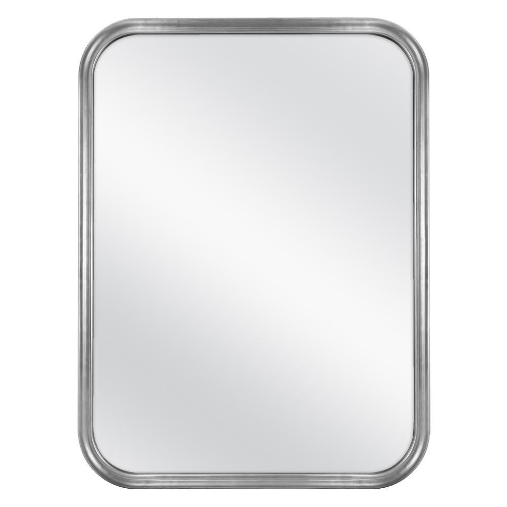 21 in. x 29 in. Framed Fog Free Wall Mirror in Soft Silver