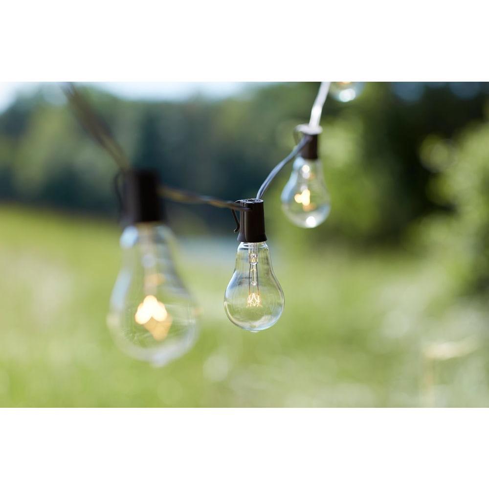 Edison 10-Light Outdoor Decorative Clear Bulb String Light