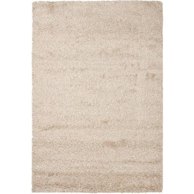 California Shag Beige 9 ft. x 12 ft. Area Rug