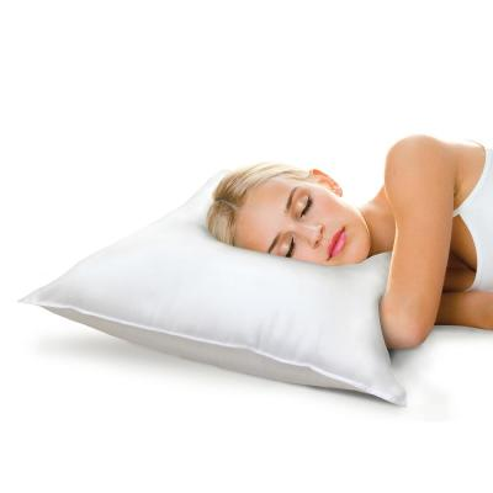 Memory Plus Classic Cotton King Memory Foam and Fiber Pillow (Set of 2)