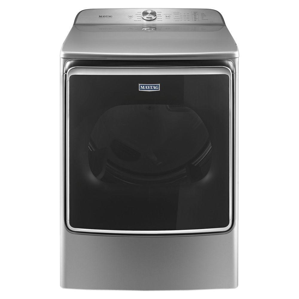 Maytag 9.2 cu. ft. 240-Volt Metallic Slate Electric Vented Dryer with Extra Moisture Sensor, ENERGY STAR