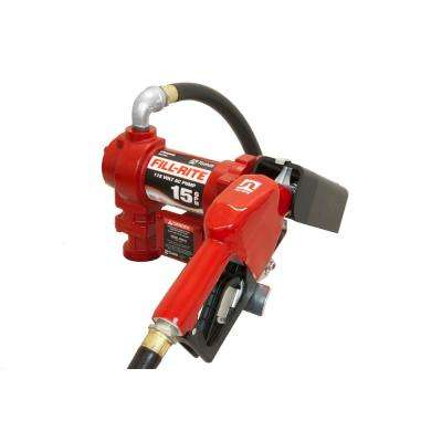 115-Volt 15 GPM 1/6 HP Fuel Transfer Pump with Standard Accessories (Automatic Nozzle)