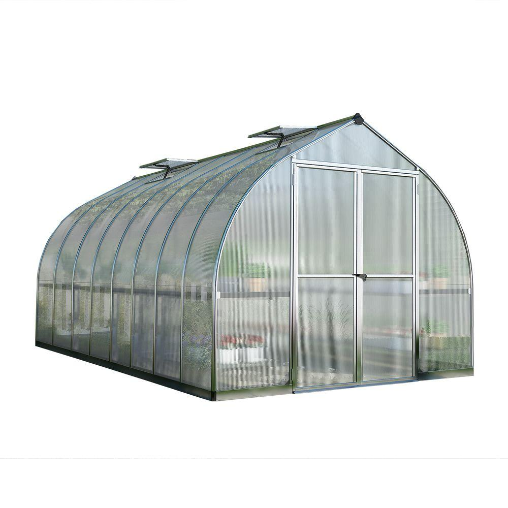 Palram Bella 8 Ft X 16 Ft Silver Polycarbonate Greenhouse
