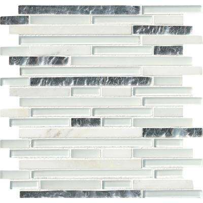 Cristallo Interlocking 12 in. x 12 in. x 8 mm Glass Stone Mesh-Mounted Mosaic Wall Tile (10 sq. ft. / Case)