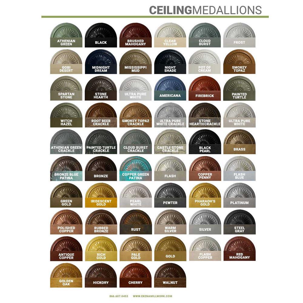 Ekena Millwork 1 2 In X 9 In X 9 In Polyurethane Claremont Ceiling Medallion Golden Oak Cm09clgos The Home Depot