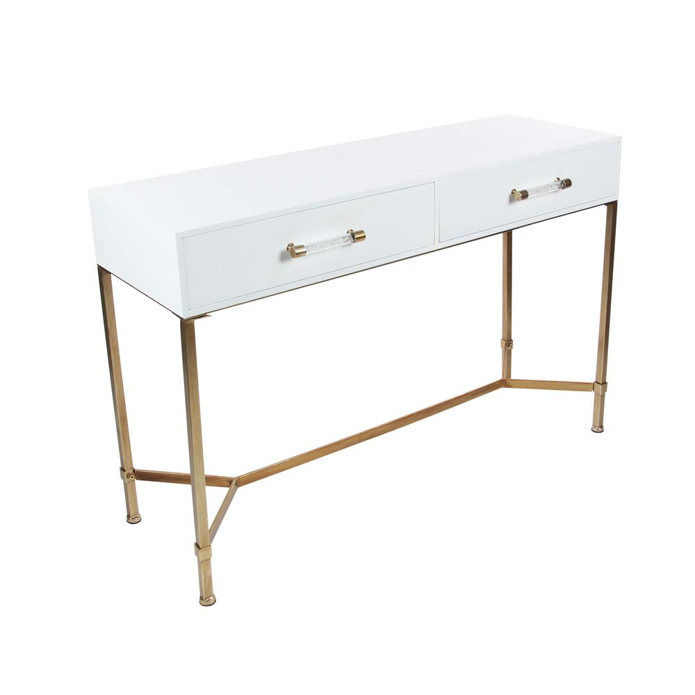 modern white console table. Modern White Metal Wood Console Table T