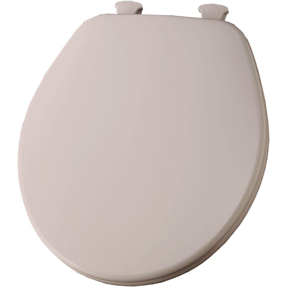 Lift-Off Round Closed Front Toilet Seat in Venetian Pink