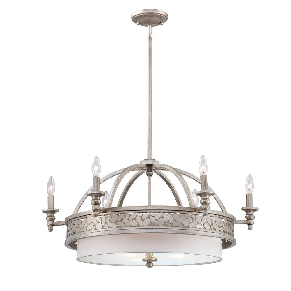 Amano Collection 9-Light Silver Chandelier