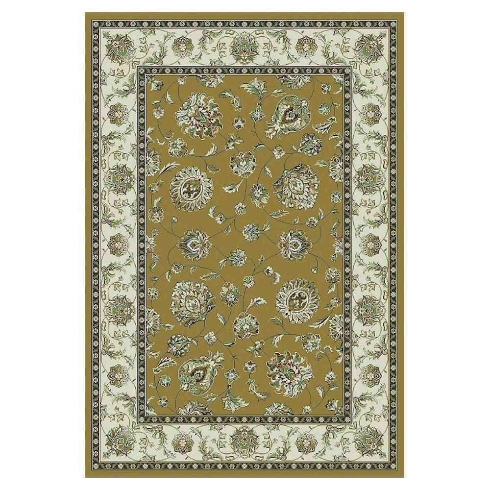 Kas Rugs Mahal Finesse Beige/Ivory 3 ft. 3 in. x 4 ft. 7 in. Area Rug-DISCONTINUED