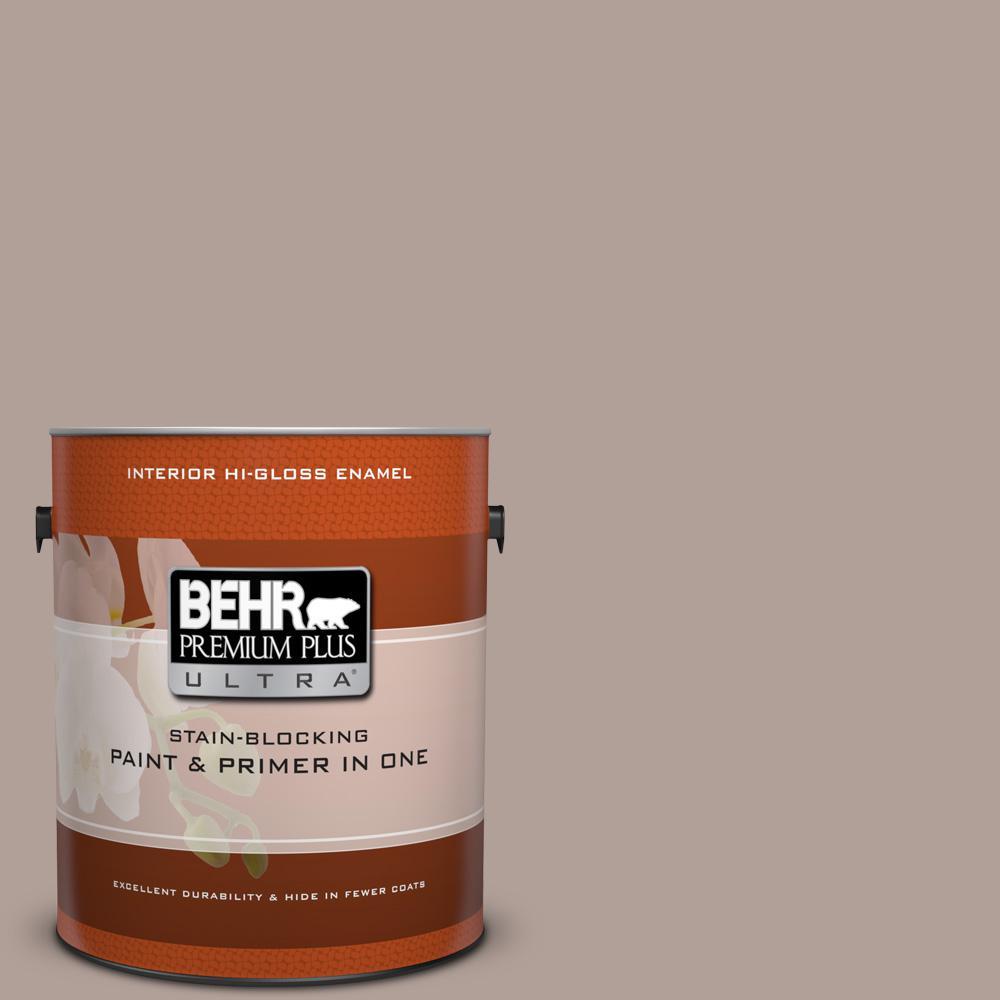1 gal. #N180-4 Moleskin Hi-Gloss Enamel Interior Paint