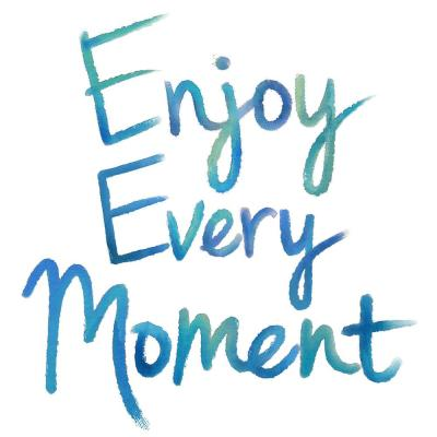 17.25 in. x 19.5 in. Enjoy Every Moment Wall Decal