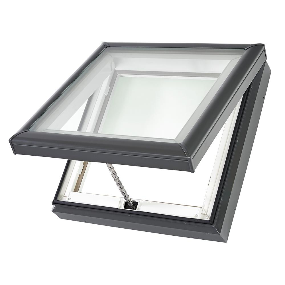 Velux 22 12 In X 22 12 In Fresh Air Venting Curb Mount Skylight With Laminated Low E3 Glass