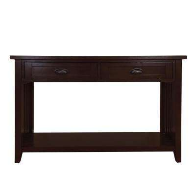 Brookdale Dark Walnut 2-Drawers Console Table