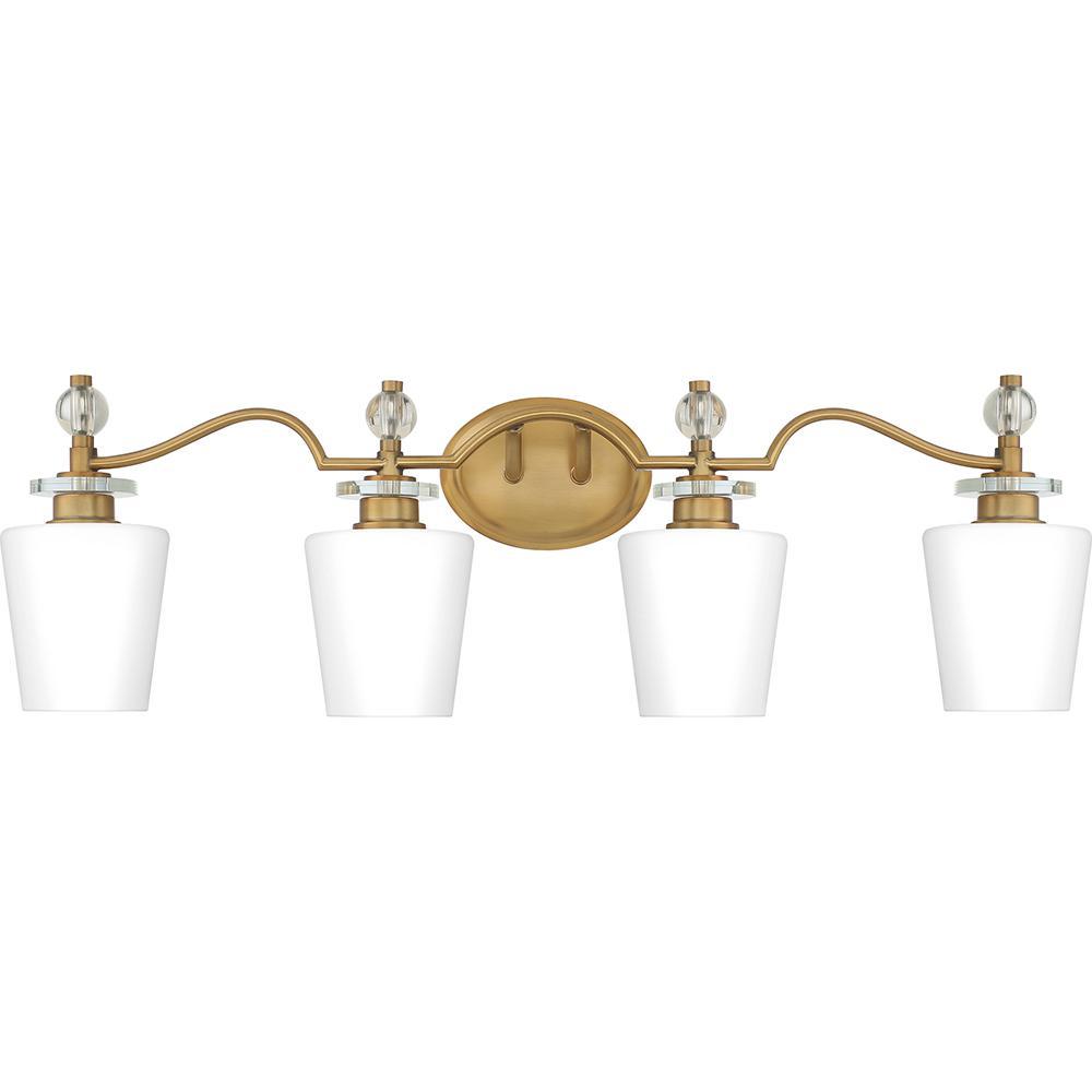 Hollister 4-Light Weathered Brass Vanity Light